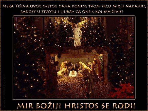 Sretan Božić svima i neka mir Isusa Hrista dođe u vašu kuću  TASIA - moj hobi